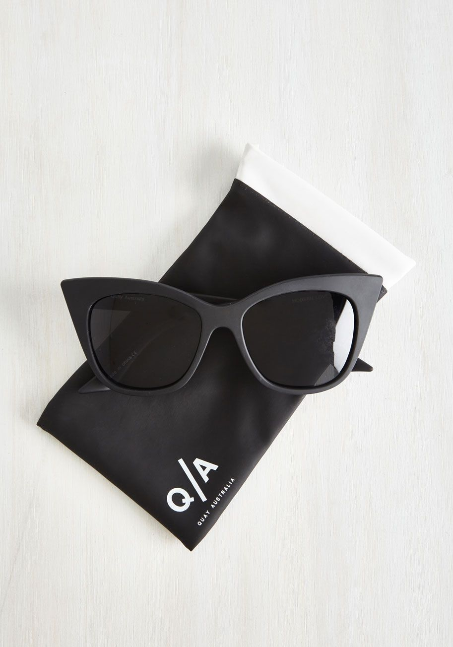 b01fee716aa8 Modern Love Of My Life Sunglasses in Noir. Your ardor for these Modern Love  sunglasses by Quay endlessly inspire a plethora of charming