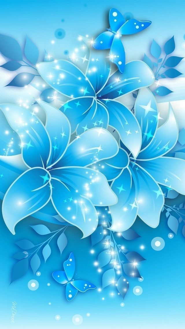 Pin by Elena Stanciulescu on Wallpaper - Background - Animation - blue flower backgrounds