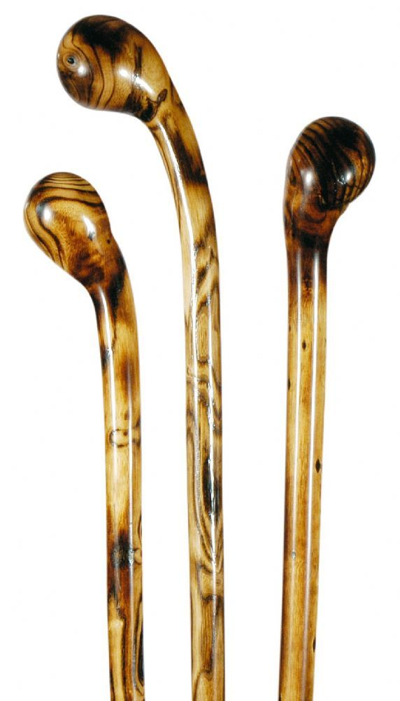 Classic Canes Long Ash Knobstick Reduced Scorched And Polished