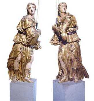 Buontalenti Bernardo - Angeli reggitorcia - circa 1602 - Santa Croce Firenze