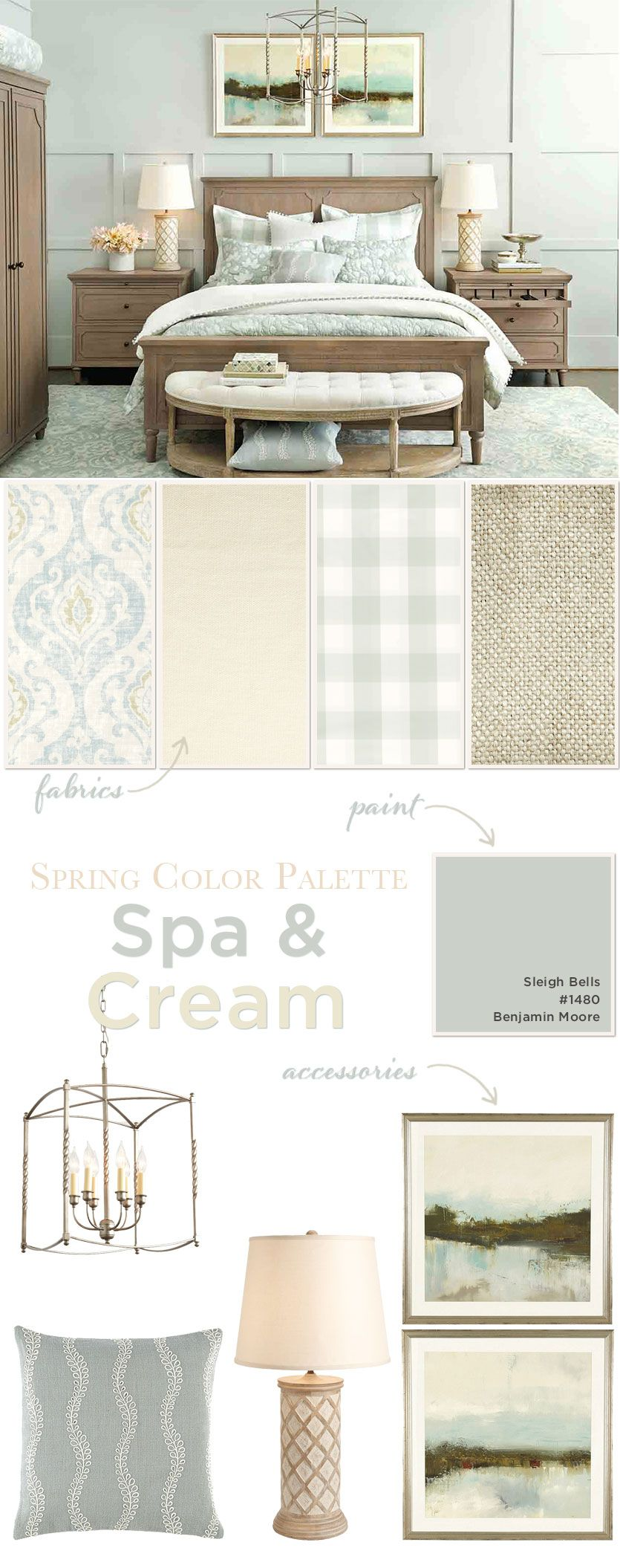 Spa & Cream Bedroom Color Palette
