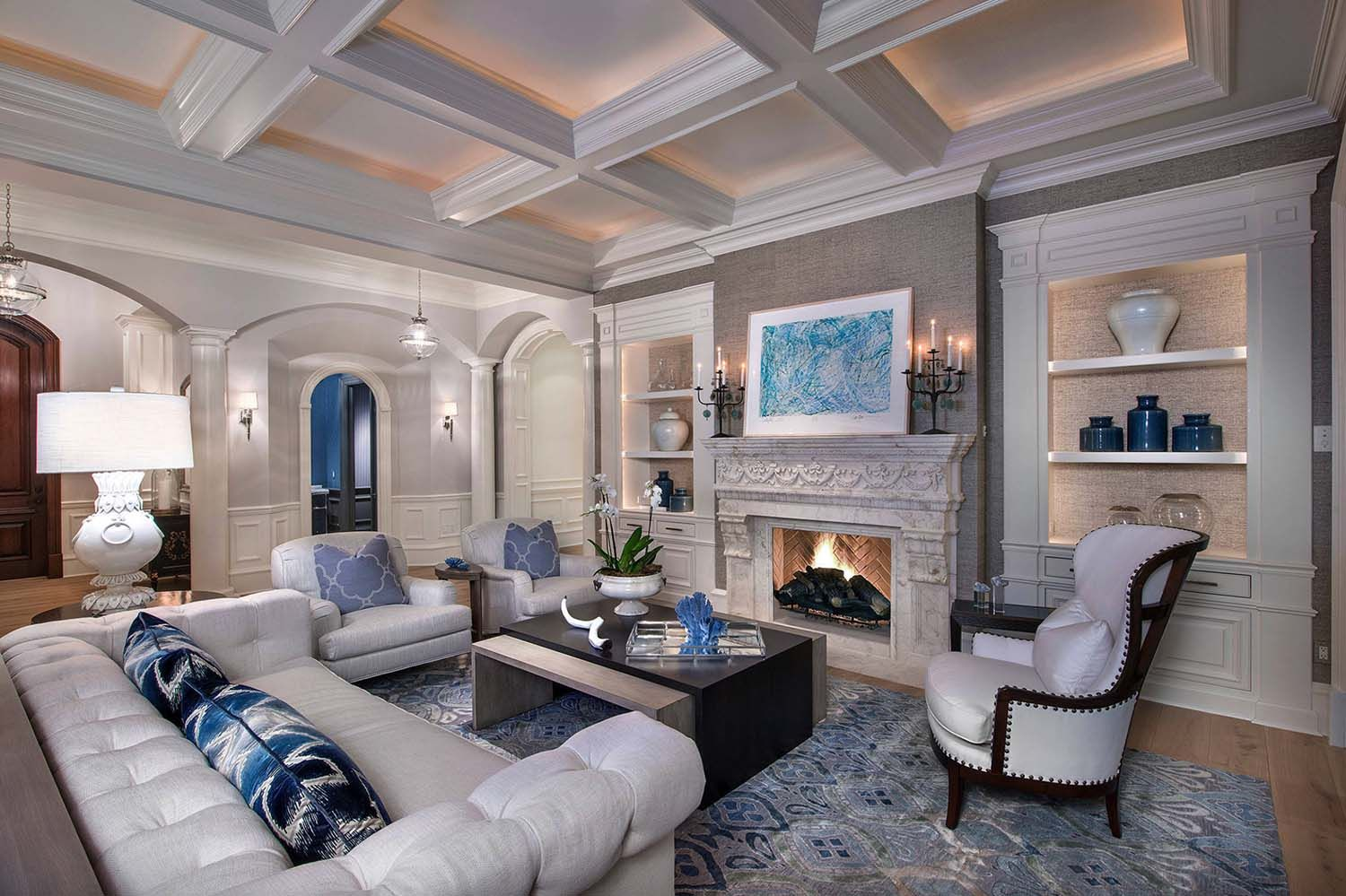 Fresh And Inviting Waterfront Home Boasts Decadent Details In