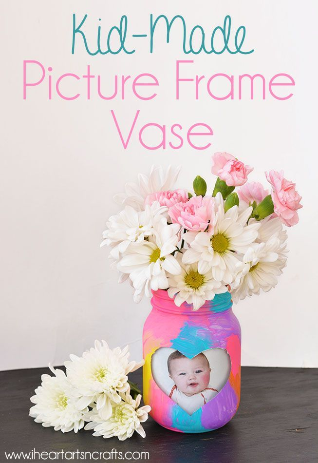 Kid-Made Picture Frame Vase | Pinterest | Crafts, Gift and Sunday school