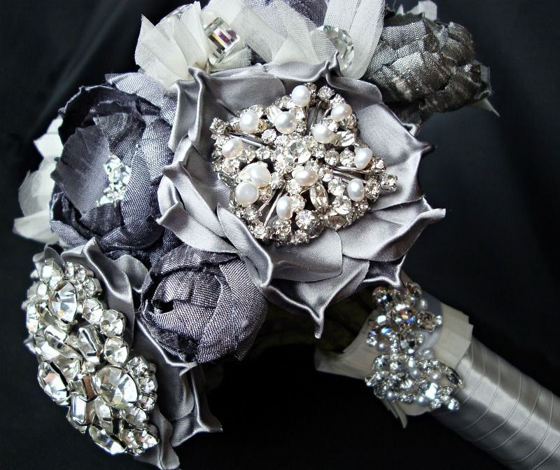 Image of new york bouquet silver and ivory vintage accent bouquet image of new york bouquet silver and ivory vintage accent bouquet silk flowerssilk mightylinksfo