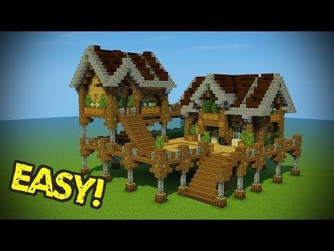 Minecraft Starter Base Tutorial Wooden Minecraft House