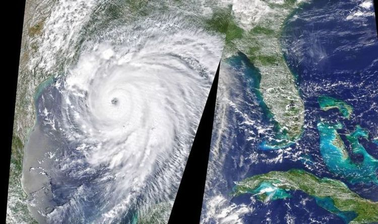 Hurricane Laura Satellite Images Terrifying Eye Of Storm Captured Of Unsurvivable Laura In 2020 Satellite Image National Hurricane Center Hurricane