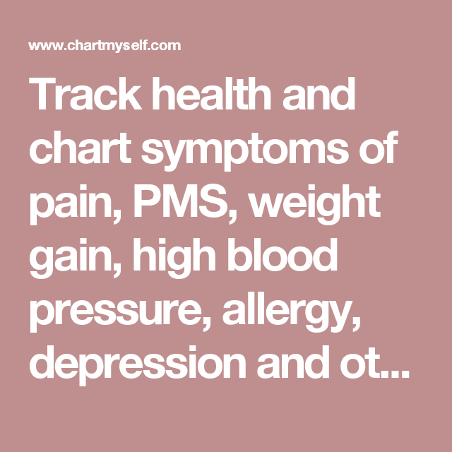 Track Health And Chart Symptoms Of Pain Pms Weight Gain High