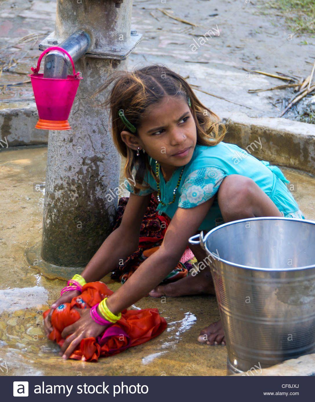 Village Life India Girls Washing - Google Search  India -3342