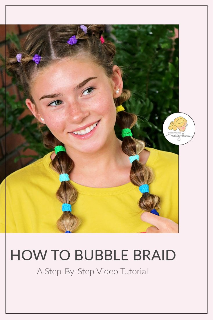 How to Bubble Braid wVideo Tutorial  Hair goals and Messy buns