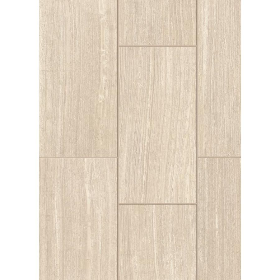Style Selections Leonia Sand Porcelain Slip Resistant Floor And Wall Tile Common 12 In X 24 In Actual 11 7 Wall Tiles Bathroom Wall Tile Porcelain Flooring