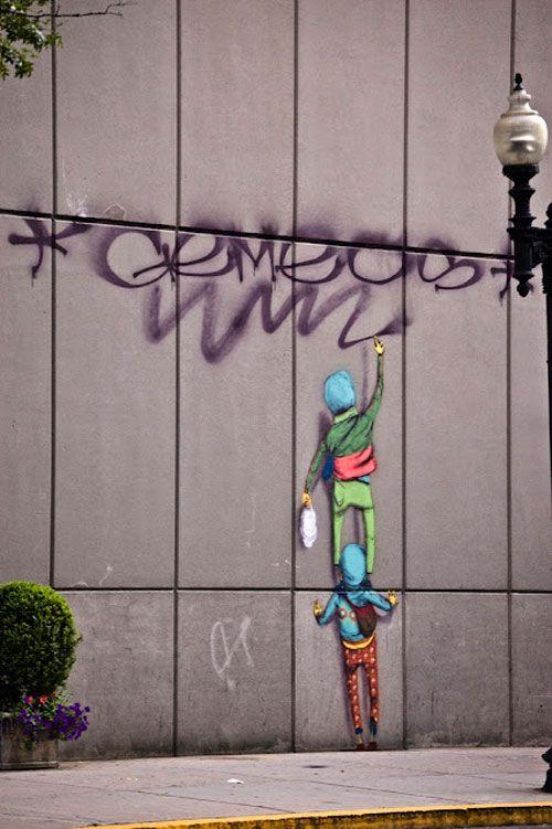 Os Gemeos street art.