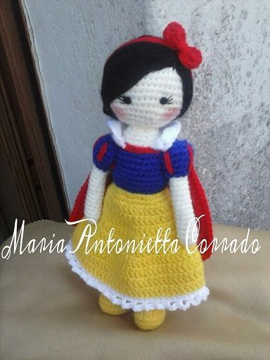 Biancaneve Amigurumi Schema In Italiano Free Crochet Patterns