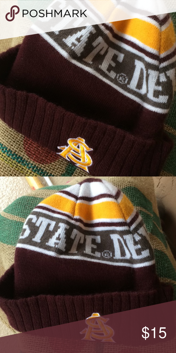 c7b8ac4f4d7 Buy it before Herm gets it! ASU SunDevil Beanie. Buy it before Herm gets  it! Good Luck Herm! All Hats are Steam Cleaned and Sanitized! Accessories  Hats