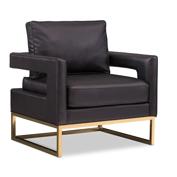Best Tov Bright Eyed Accent Chair Black American Signature 400 x 300