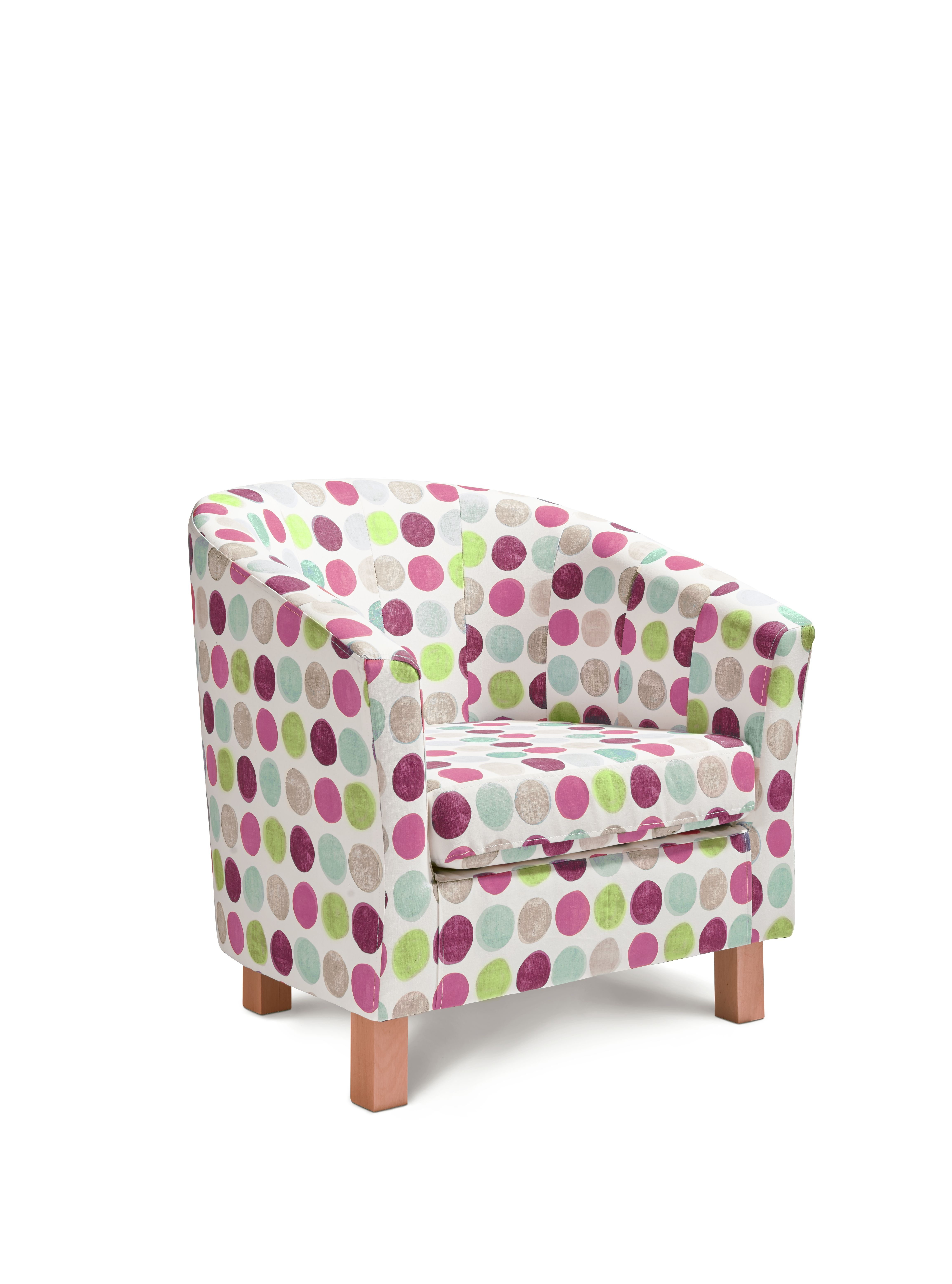Egypt t ub accent chair helix in pink accent chairs