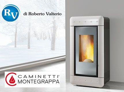 Stufa a pellet Caminetti Montegrappa modello Video Mirror Le stufe ...