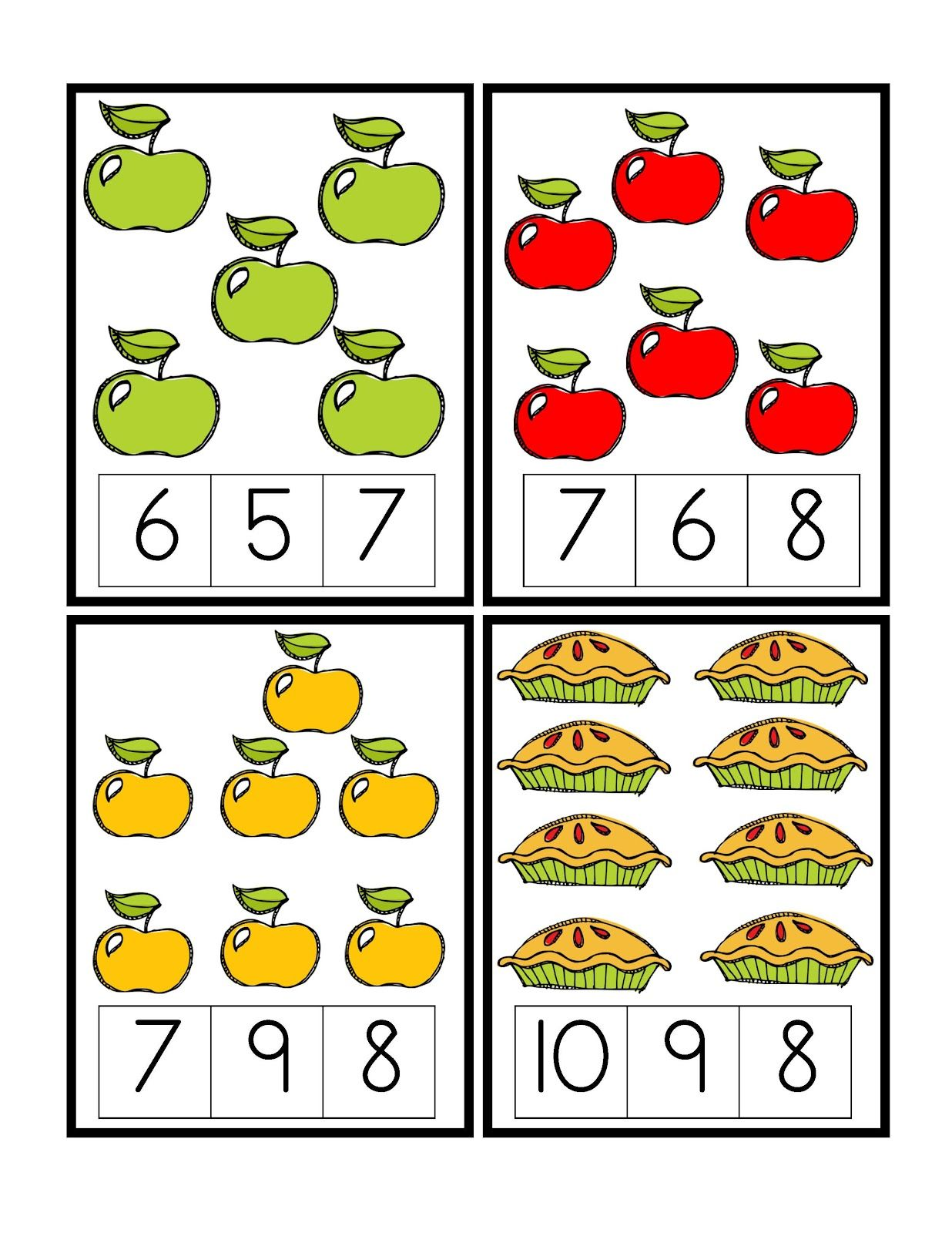 Preschool Printables Apple
