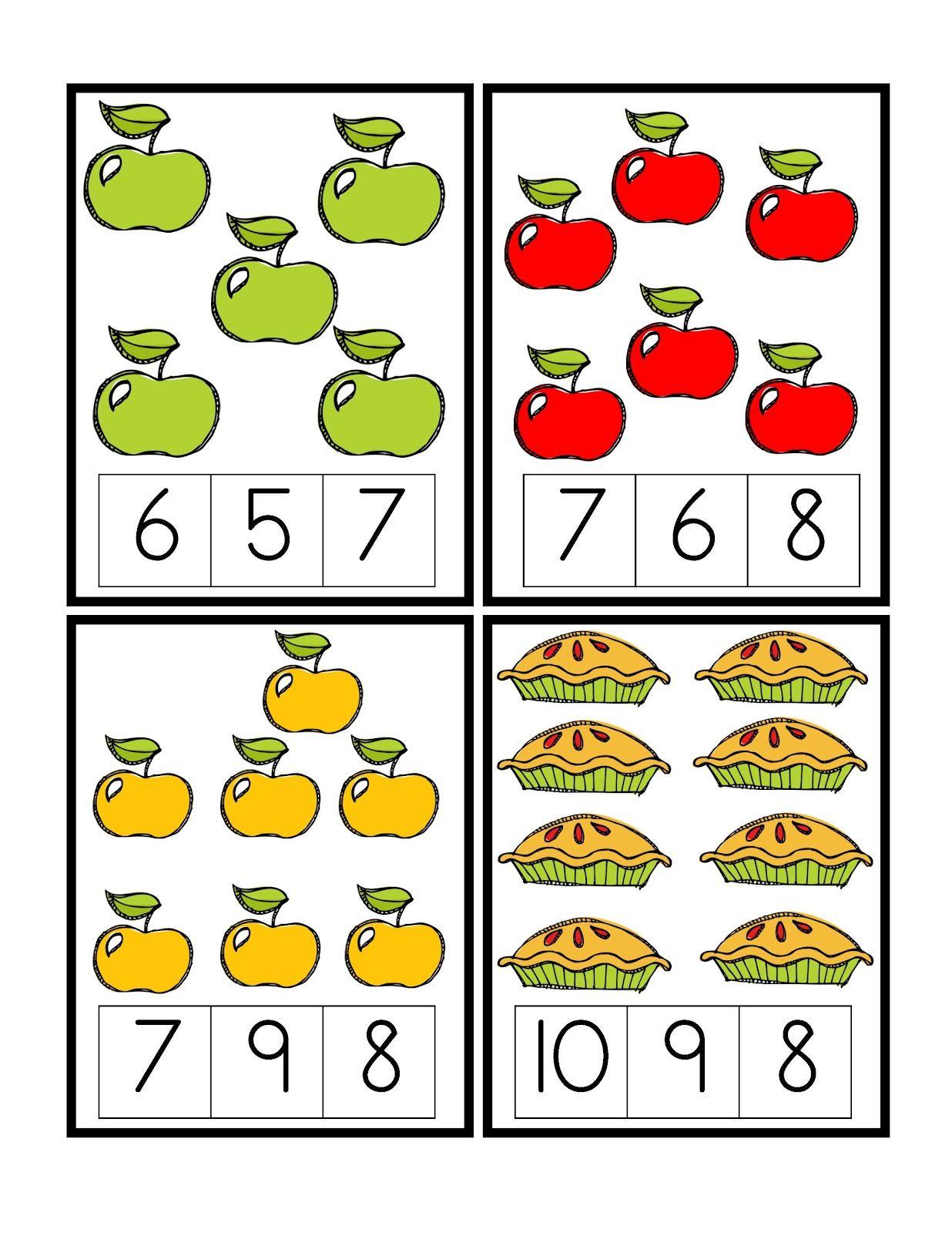 Preschool Printables Apple Worksheets Pinterest Pre School
