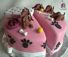 Incredible Dachshund Birthday Cake Google Search Dachshund Cake Puppy Funny Birthday Cards Online Unhofree Goldxyz
