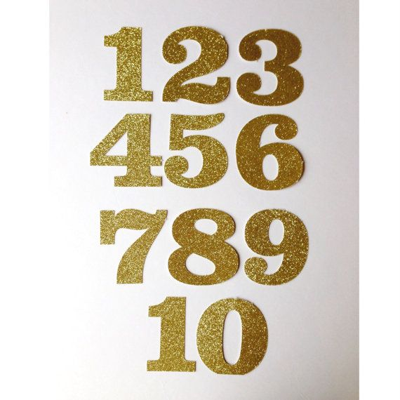 Large Glitter Card Number Stickers 1 10 Number Stickers Glitter Cards 10 Things