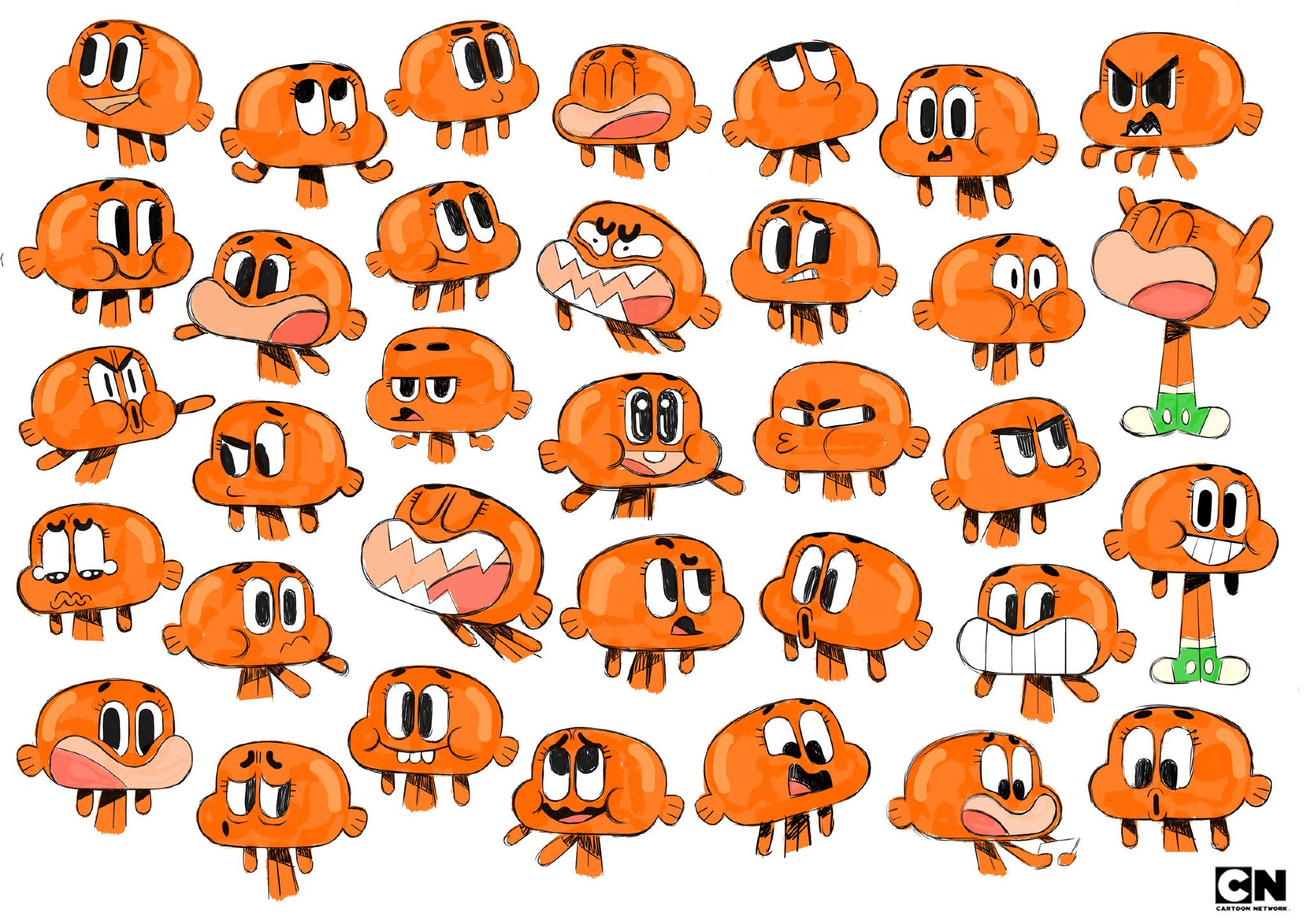 The Amazing World Of Gumball Cartoon Network Virginie Kypriotis Character Design Freelance Designer The Amazing World Of Gumball World Of Gumball Gumball