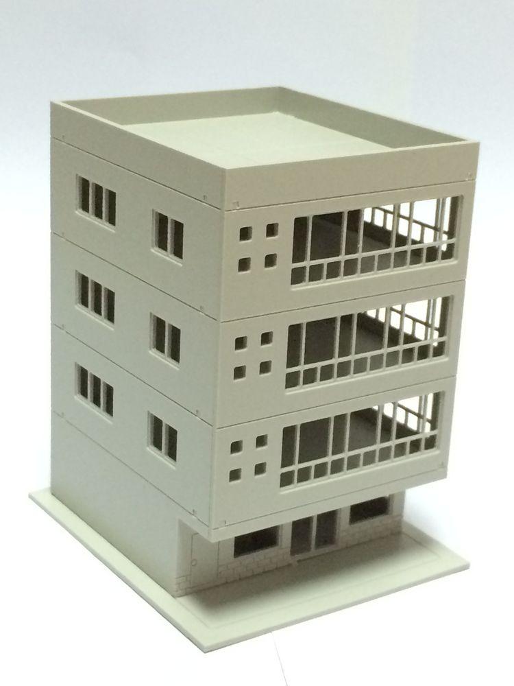 Outland Models Railway Modern 4-Story Office Building Unpainted N Scale 1:160 #OutlandModels
