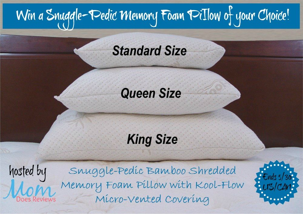 Win A Snuggle Pedic Memory Foam Piilow Us Can Ends 5 30 With Images Memory Foam Pillow Foam Pillows Pillows