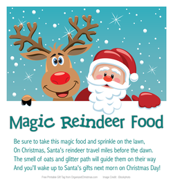Magic Reindeer Food Printable Stocking Stuffer Christmas Organization Magic Reindeer Food Christmas Activities