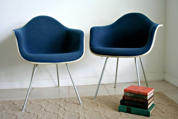 Herman Miller Eames MCM Style Chairs Set Of 2 By MyOliviaVintage