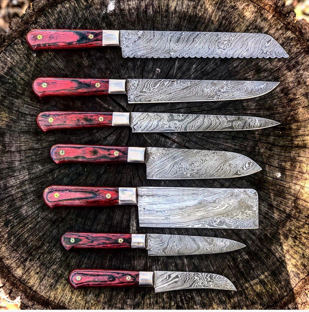 how to buy kitchen knives damascus steel chef kitchen knife set with leather carry bag damascus steel kitchen knives 2185