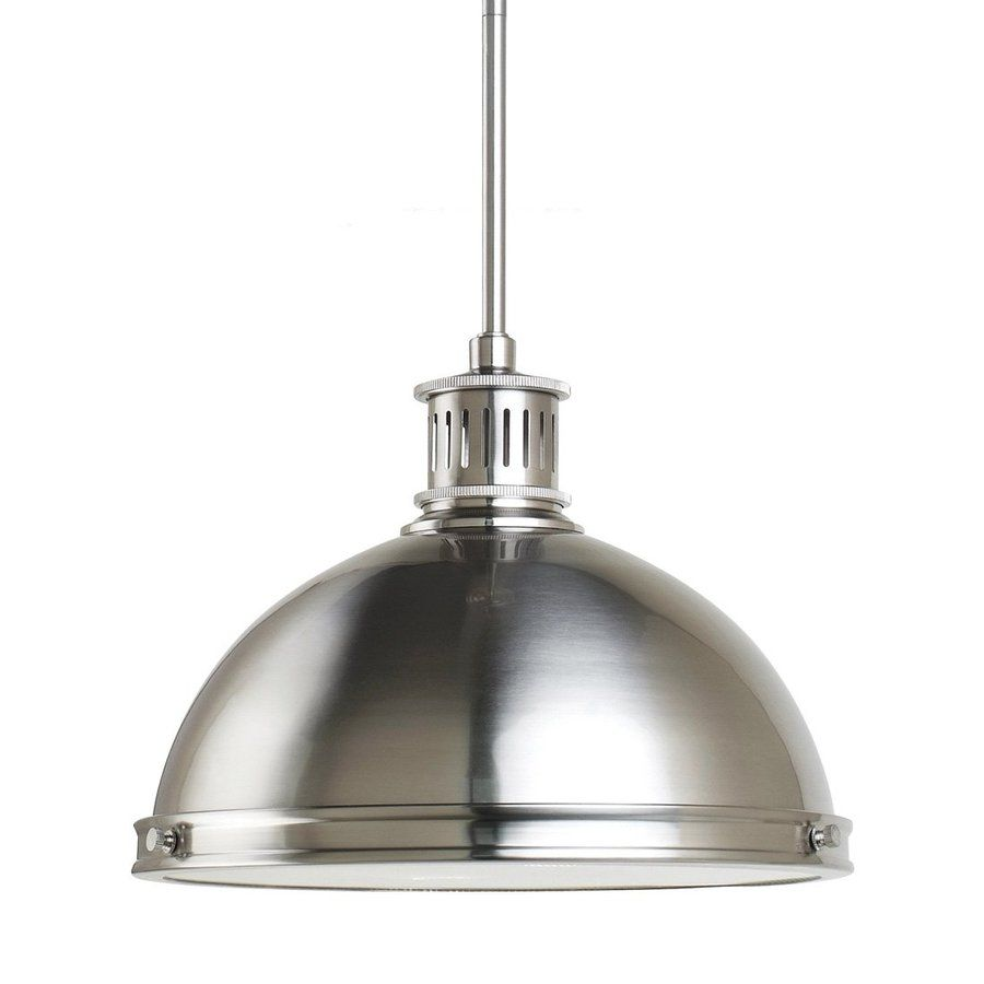Sea gull lighting pratt street 13 in brushed nickel industrial sea gull lighting pratt street 13 in brushed nickel industrial single warehouse pendant aloadofball