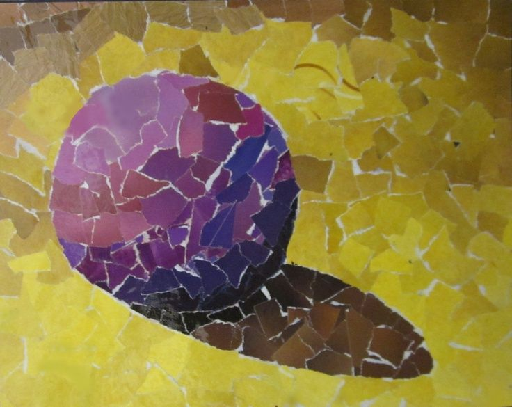 complementary color magazine collage globe and art lesson
