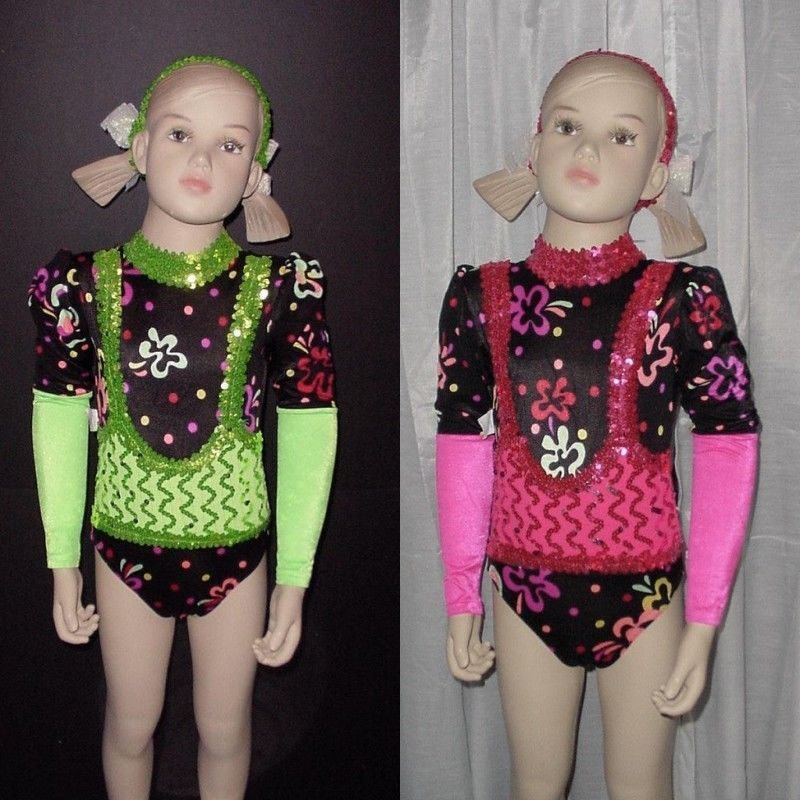 ad1ecd023570 Outrageous Dance Costume Leotard Lime or Pink Jazz Tap Child Small,CXS  Clearance #Coqui