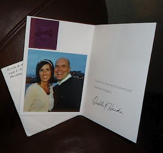 Sincerely Scent Card that I received at the Scentsy Leadership Retreat in Riviera Maya.  Pic of Orville and Heidi and Scent Black Raspberry Vanilla
