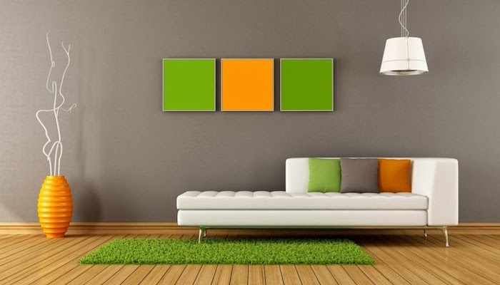 ▷ 1001 + Ideen zum Thema Welche Farbe passt zu grau? - Wohnzimmer Grau Orange