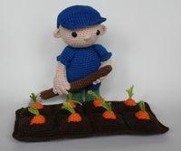 Farmhand Koen and carrots