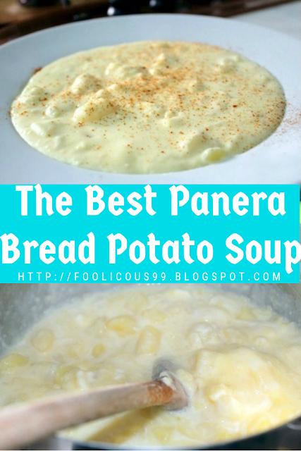 The Best Panera Bread Potato Soup #potatosoup