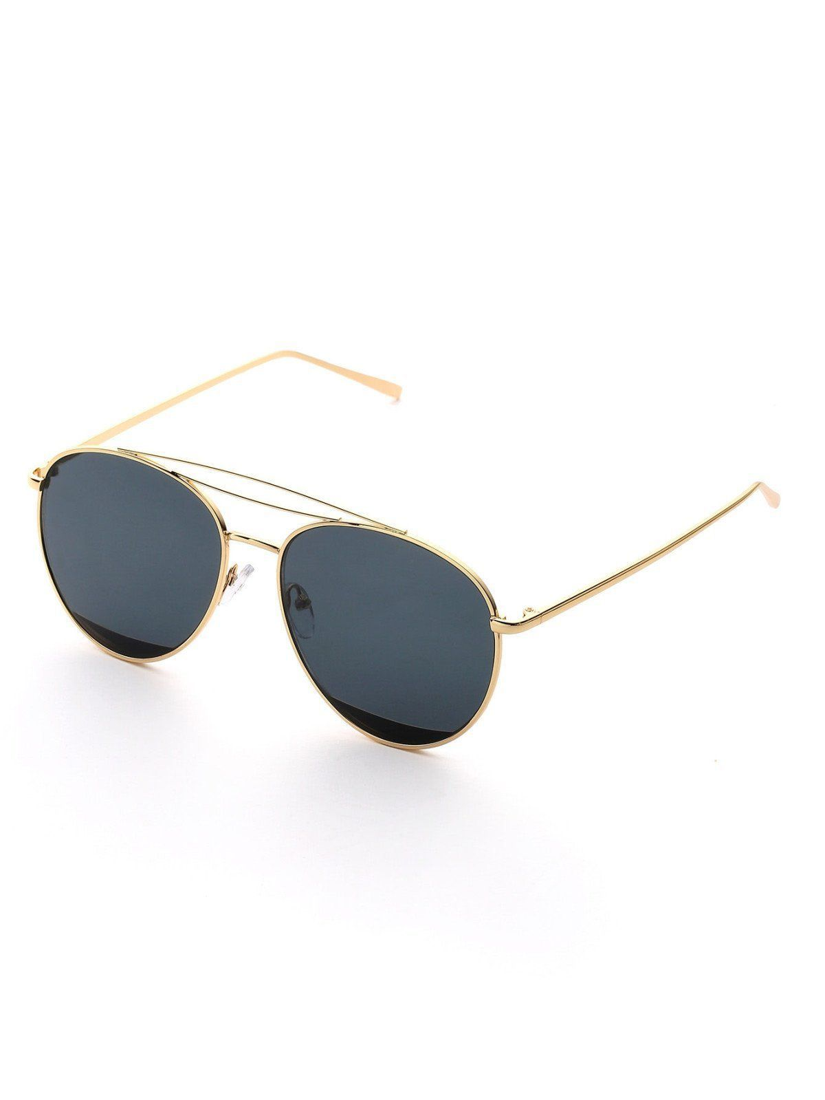 370830a1107 SheIn offers Contrast Frame Aviator Sunglasses   more to fit your  fashionable needs.