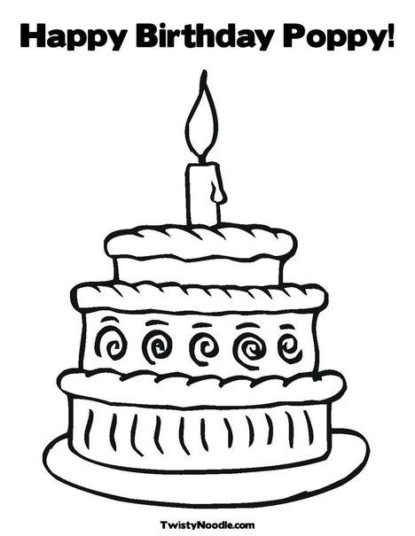 Happy Birthday Poppy Coloring Page Happy Birthday Coloring Pages Birthday Coloring Pages Happy Birthday Grandpa