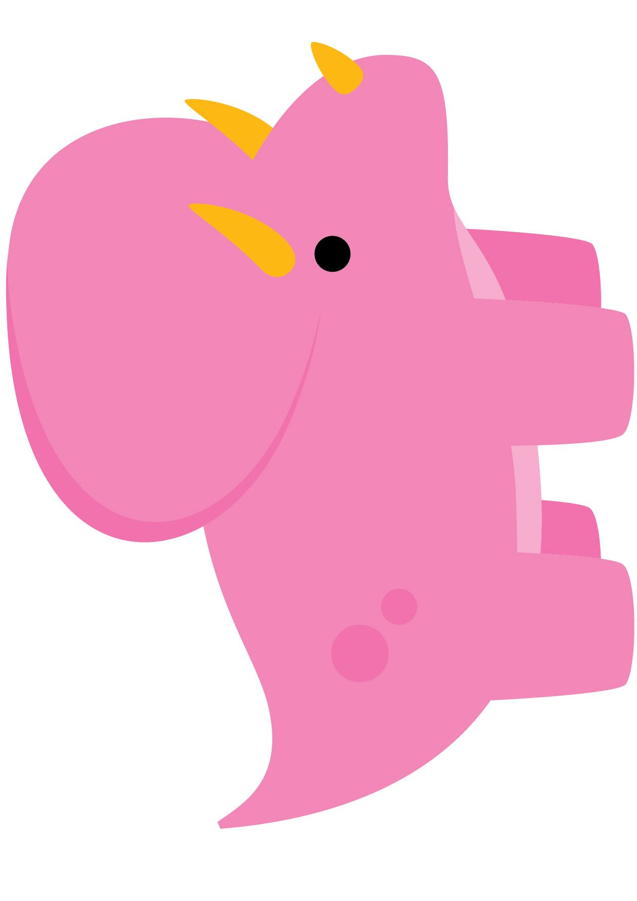 Dinosaurio, pink, formas para piñatas, formas para banner ...