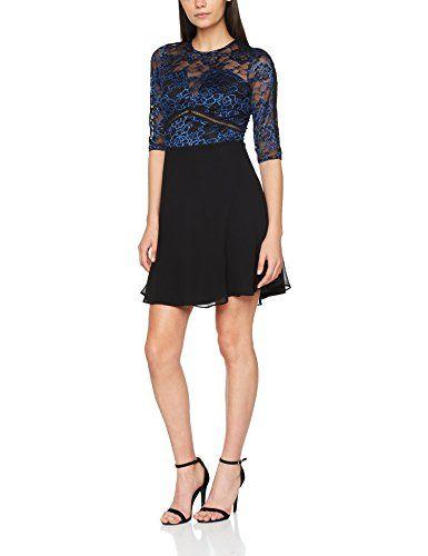 20e2d47ac Elise Ryan Women's Ladder Trim Detail 2 Tone Lace Dress Multicoloured  (Black/Blue) 14 | Women's Dresses in 2019 | Lace dress, Formal dresses,  Dresses