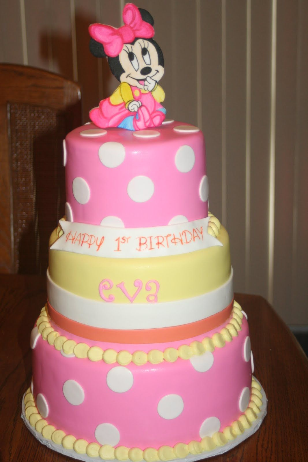 Baby Minnie Mouse 1st Birthday Pin Baby Minnie Birthday Cake Mouse