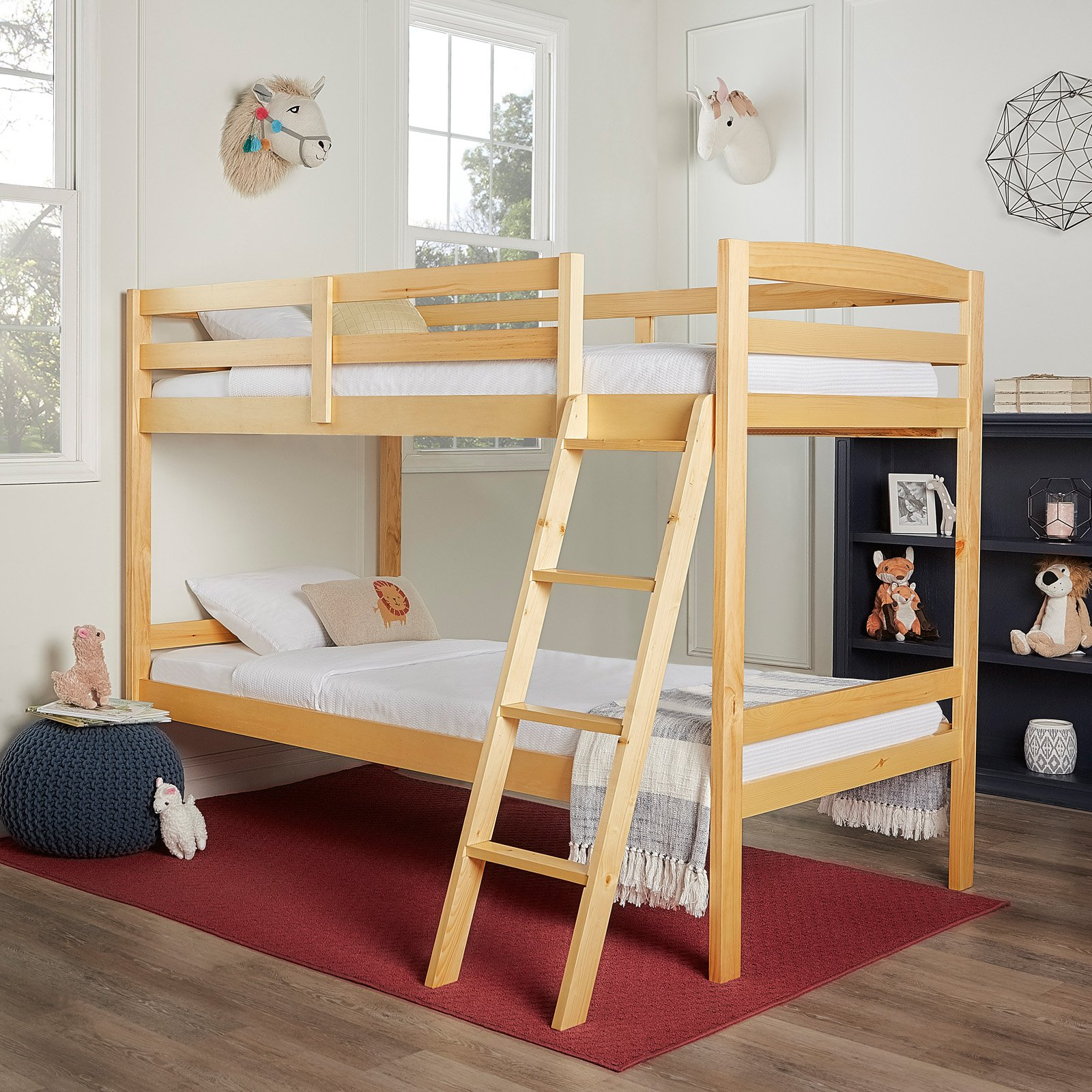 Dream on Me Taylor Twin Over Twin Bunk Bed White Twin
