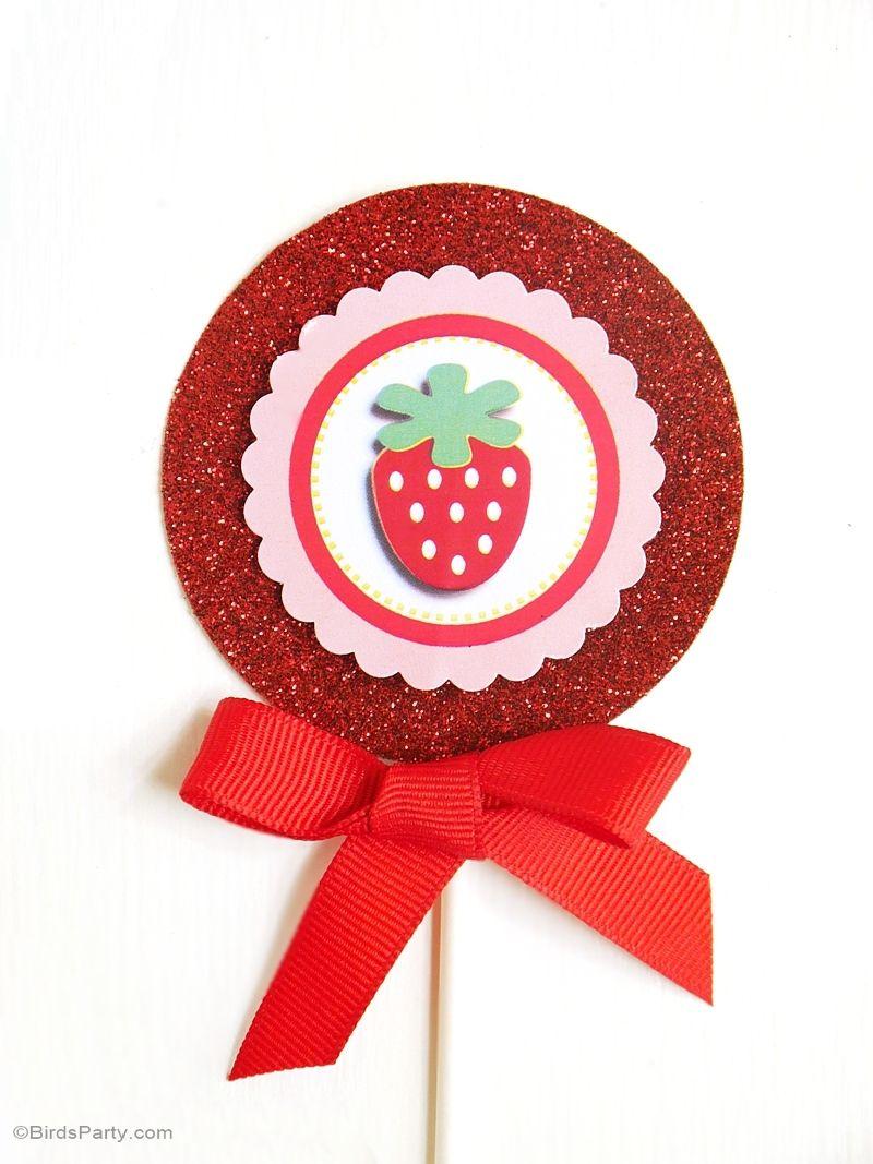 Summer Invitation Strawberry Birthday Party Printable Chevron Strawberry Invitation Strawberries