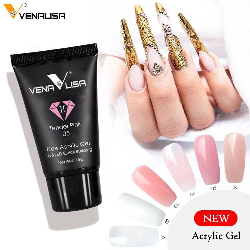 Venalisa Poly Gel Kits Dropshipping French Nail Clear Camouflage Color Nail Tip Form Crystal Acrylic Gel Slice Brush Nail Gel Nails Nail Effects French Nails