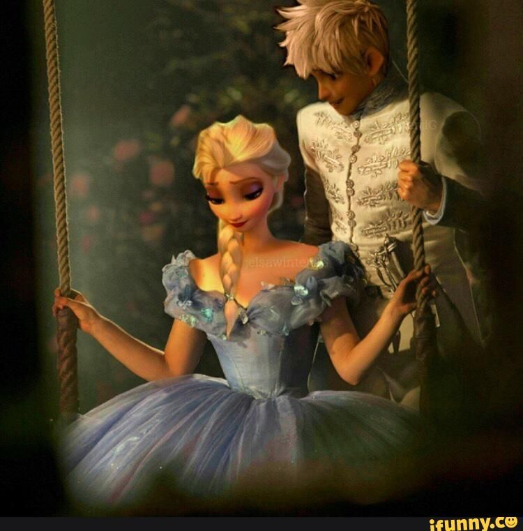 Jelsa as Prince Kit and Ella from Cinderella.