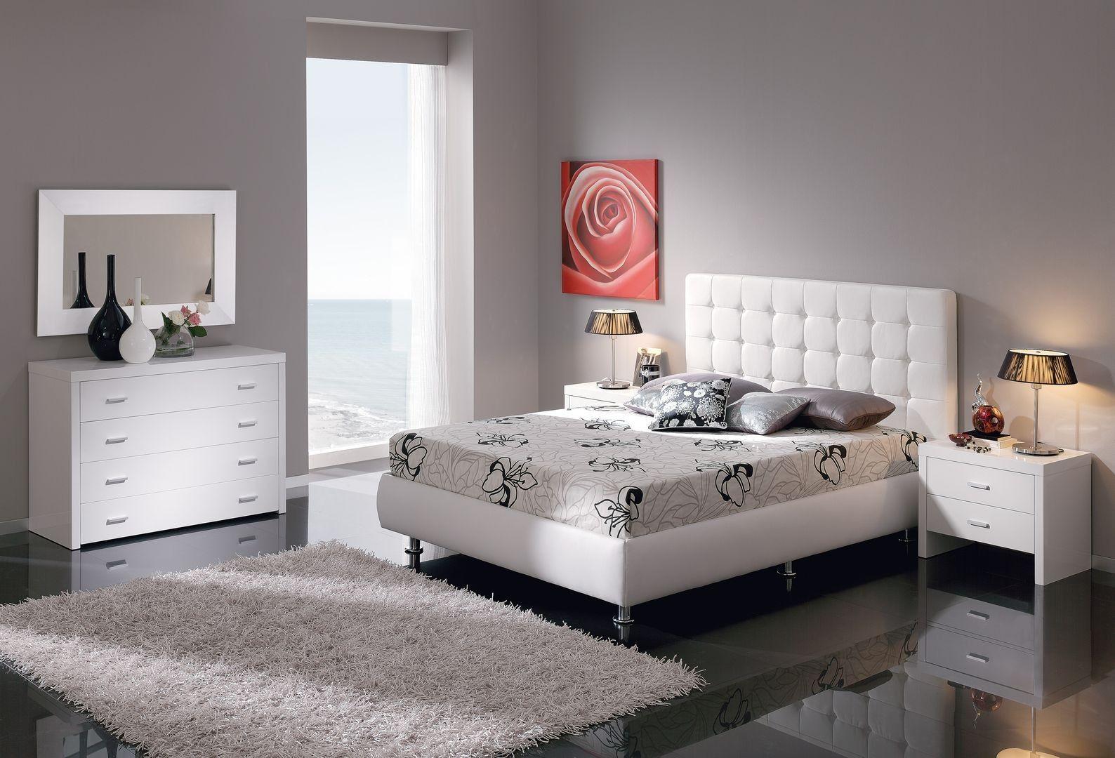 Cama Moderna Tapizada Tatín en Ámbar-Muebles.com | camas | Pinterest ...