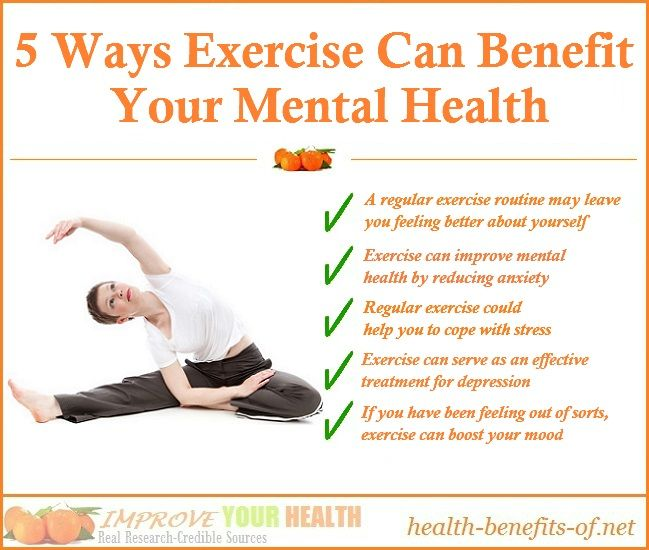 Exercise and Mental Health Benefits | exercise and mental health ...