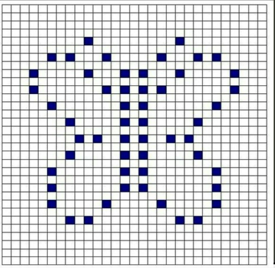 Bobble Crochet Graph - Butterfly | szydełko | Pinterest