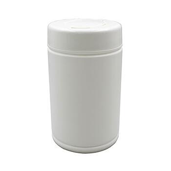 1 Liter White Wet Tissue Canister Canisters Wet Plastic Bottles